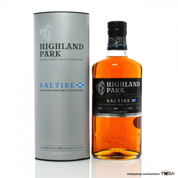Highland Park 2004 13 Year Old Single Cask #6520 Saltire David Coulthard Single Cask Edition No.1