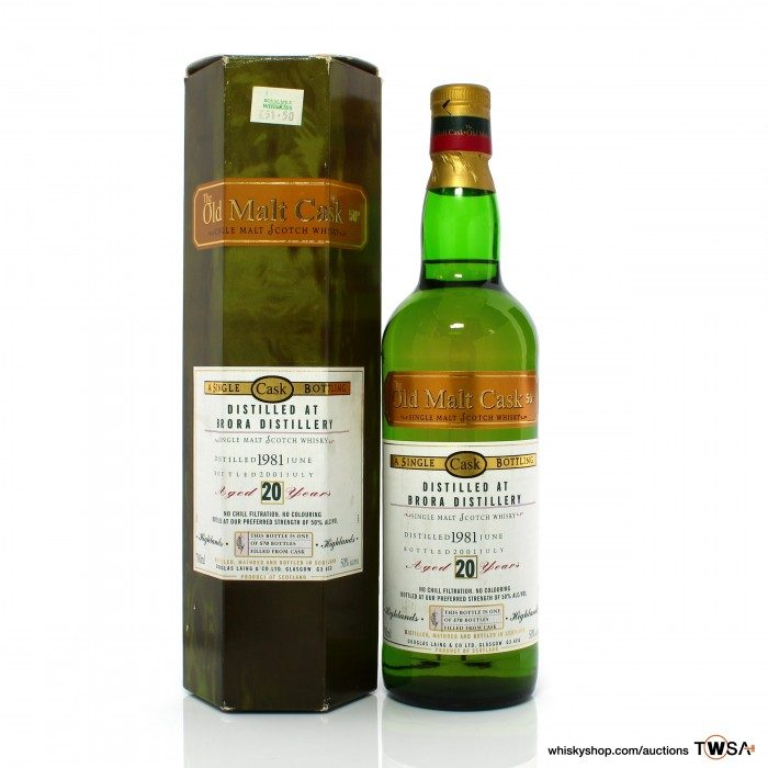 Brora 1981 20 Year Old Single Cask Douglas Laing Old Malt Cask