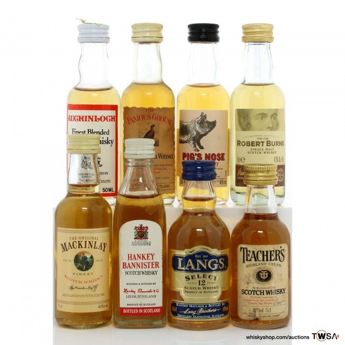 Assorted Blended Scotch Miniatures x8