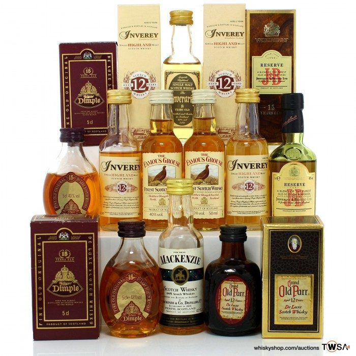 Assorted Scotch Miniatures 10x5cl
