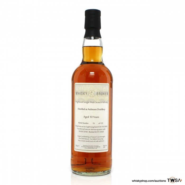 Ardmore 2009 10 Year Old Single Cask #705955A Whisky Broker