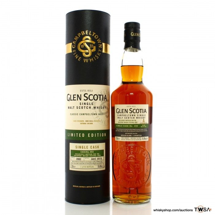 Glen Scotia 2002 17 Year Old Single Cask #493 - Southport Whisky Festival 2020