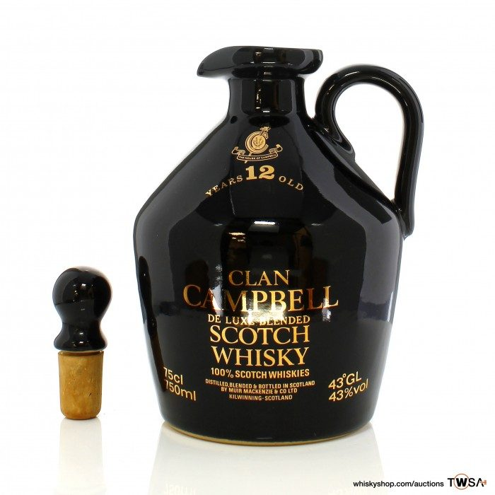 Clan Campbell 12 Year Old Ceramic Decanter
