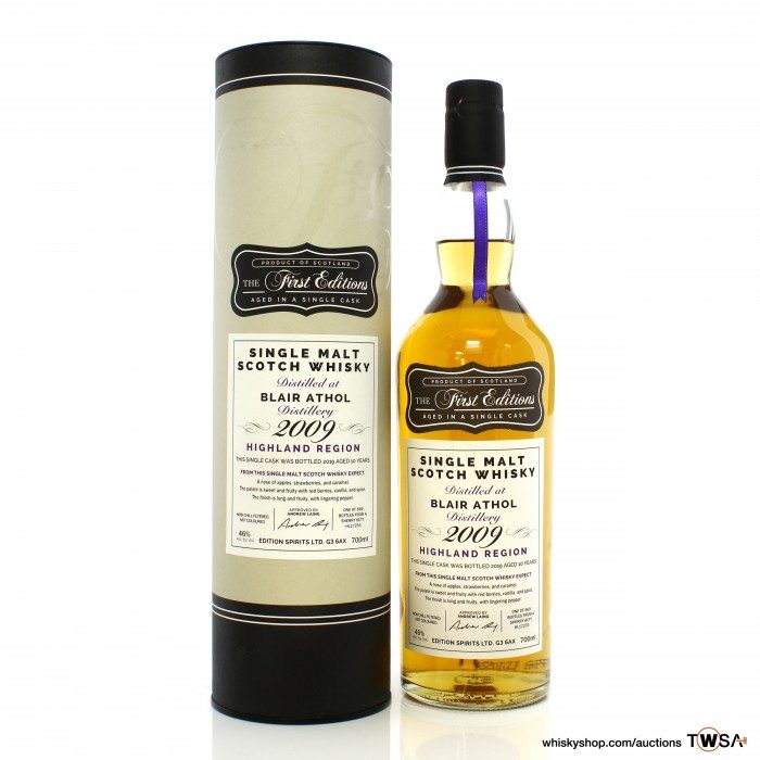 Blair Athol 2009 10 Year Old Single Cask #17253 Hunter Laing First Editions
